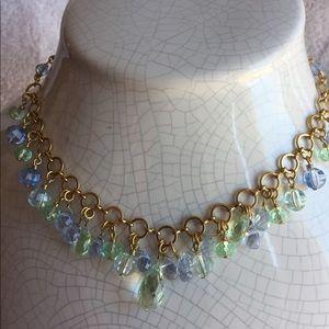 Cookie Lee, Spring, Mermaid, Blue/green necklace/